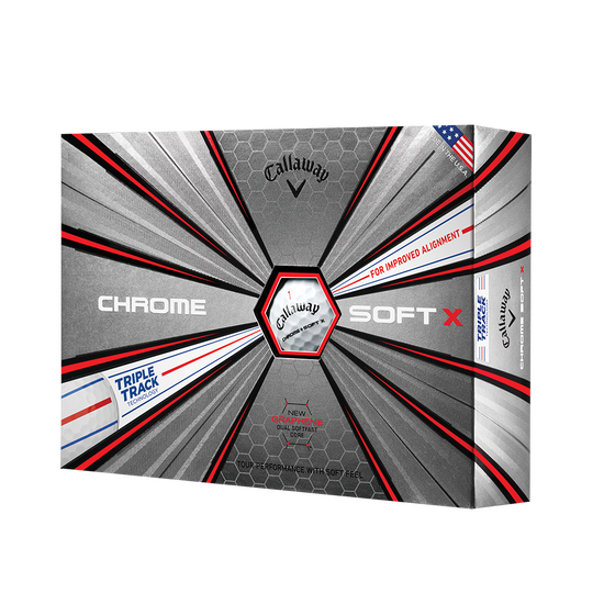 Chrome-Soft-X Triple-Track Golfbälle