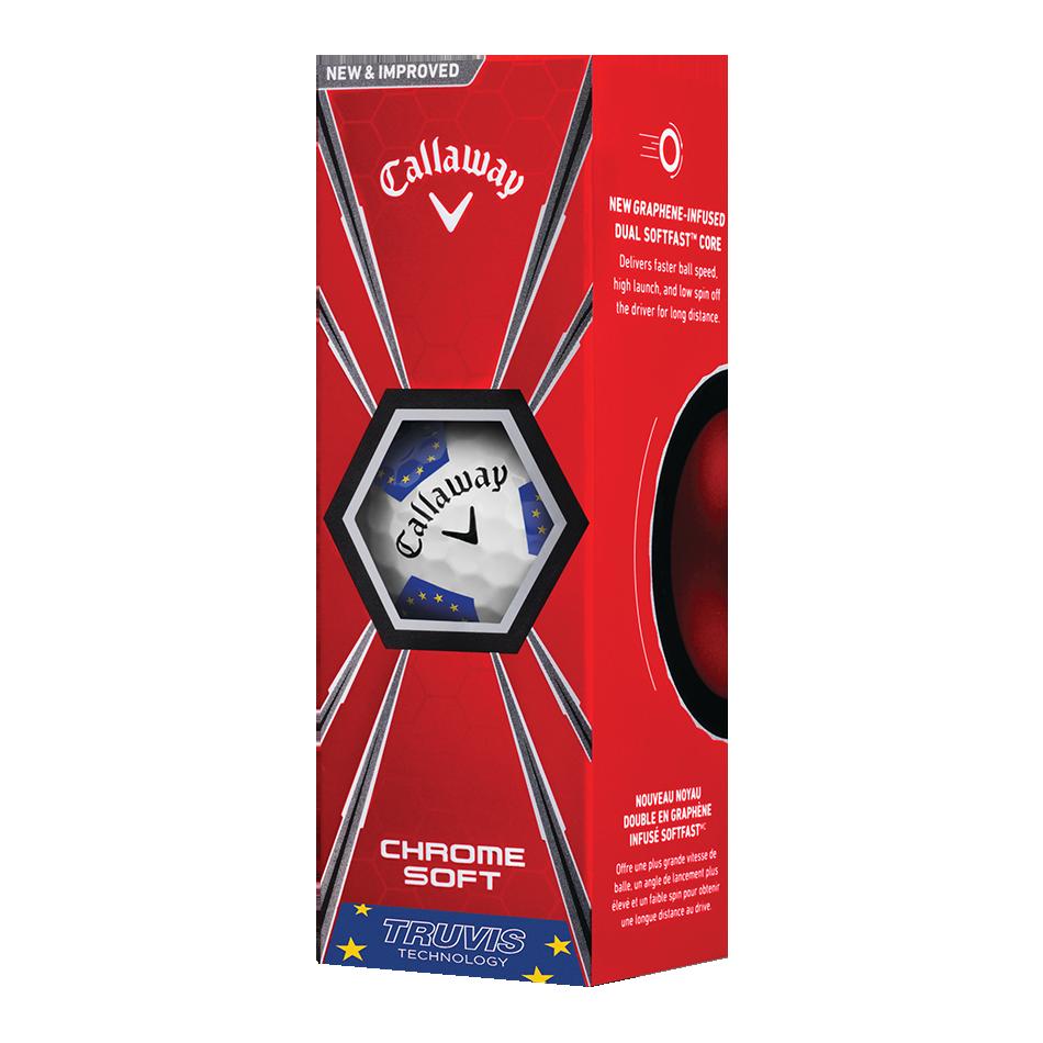Chrome Soft European Truvis Golf Ball - View 2