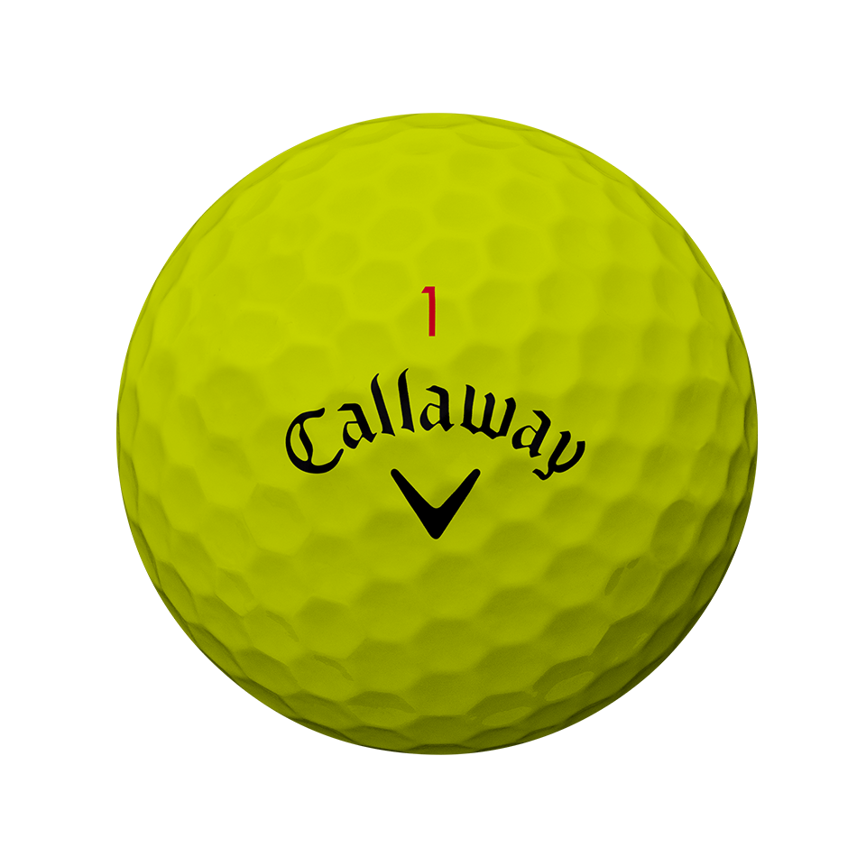 Der neue Chrome Soft Yellow Golfball - Personalisiert - View 2