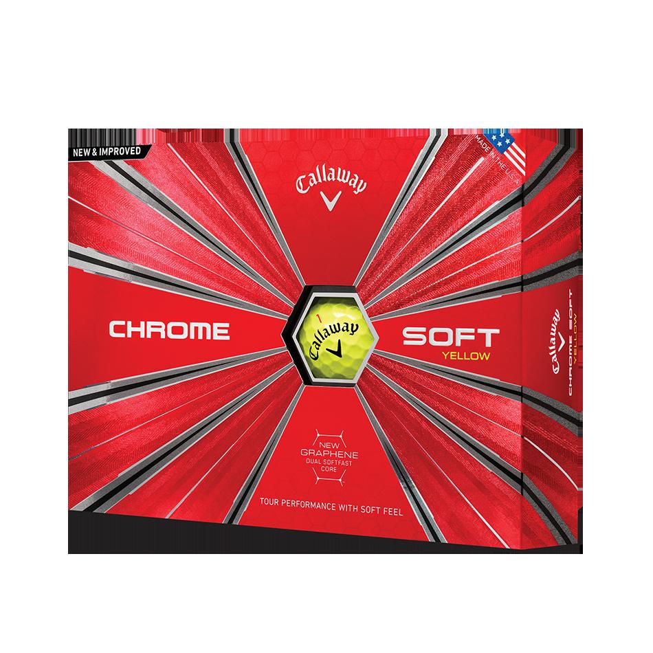 Der neue Chrome Soft 18 Yellow Golfball - Personalisiert - Featured