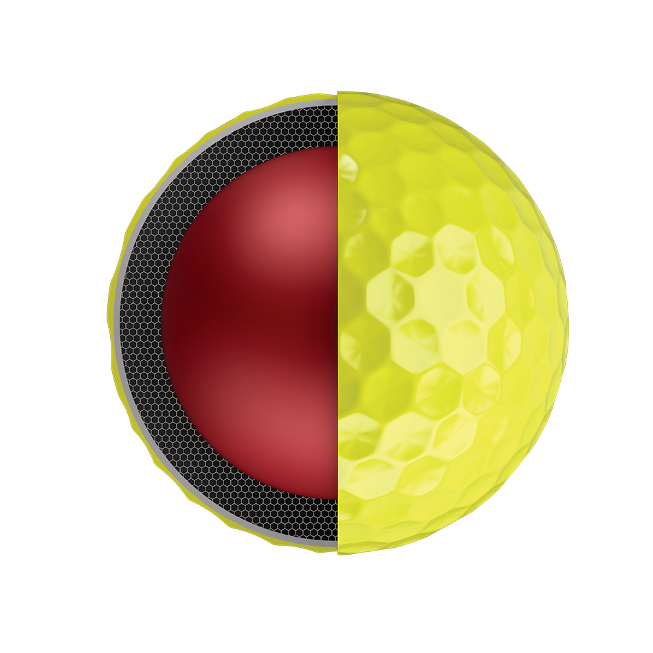 Der neue Chrome Soft 18 Yellow Golfball - Personalisiert - View 3