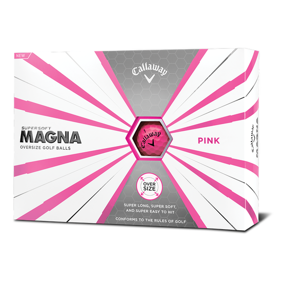 Callaway Supersoft Magna Pink Golf Balls