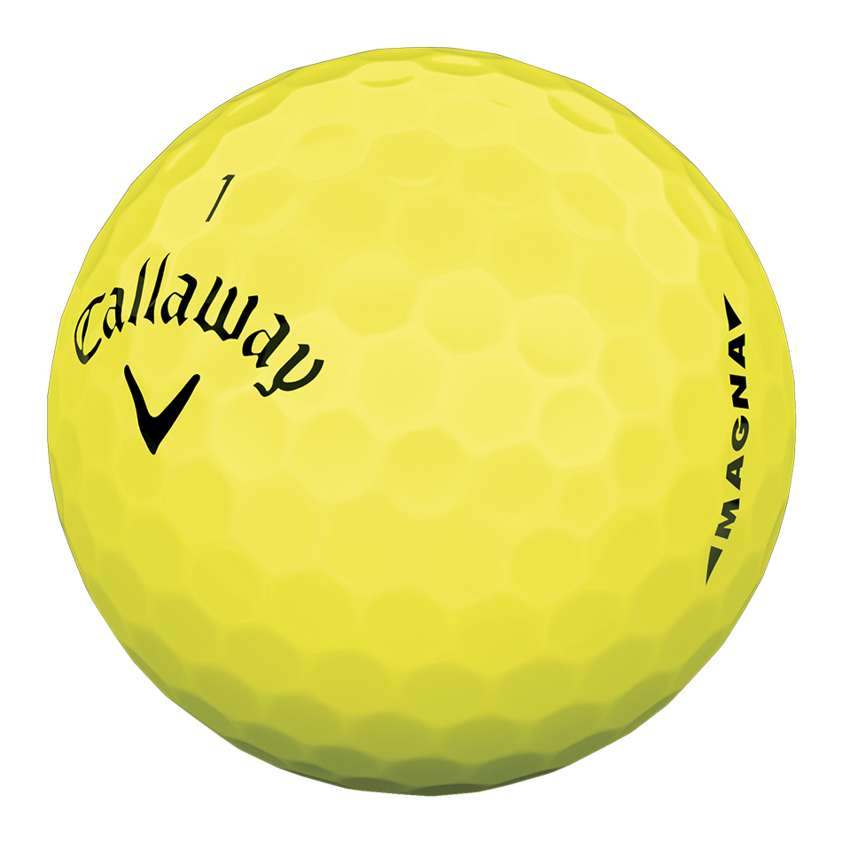Callaway Supersoft Magna Yellow Golf Balls - Personalisiert - View 3