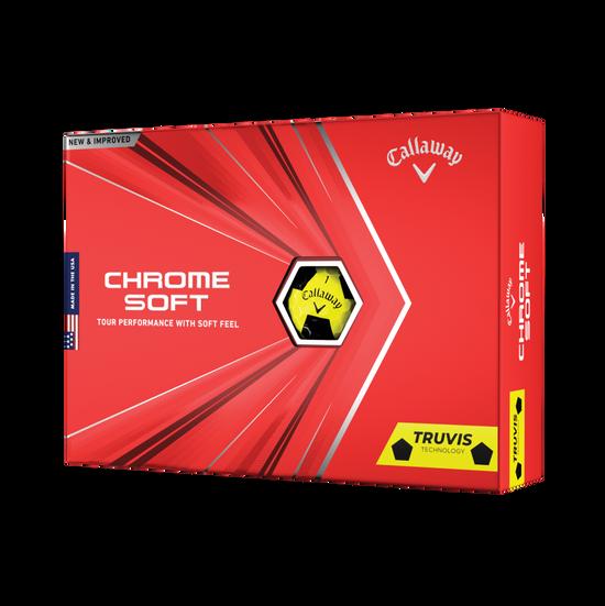 Chrome Soft Yellow Truvis 2020 Golfbälle