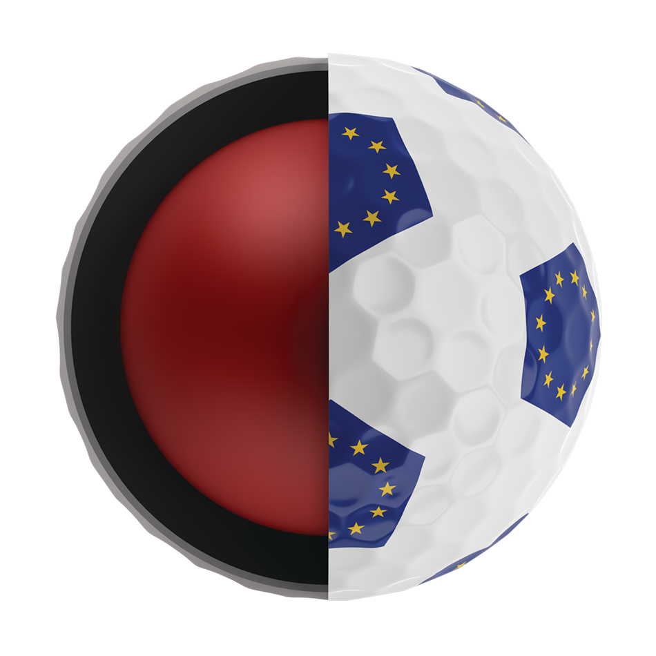 Chrome Soft European Truvis Golf Ball - View 5