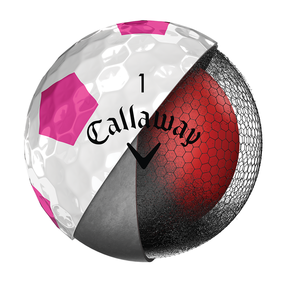Der neue Chrome Soft Truvis Pink Golfball - View 4