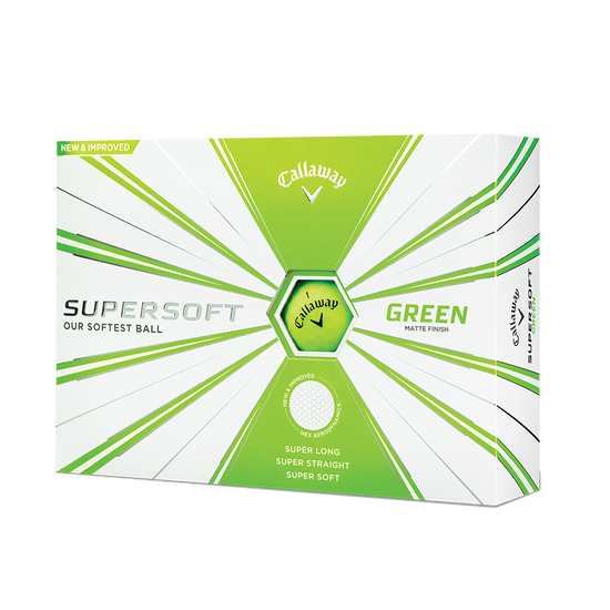 Callaway Supersoft Matte Green Golf Balls - Personalisiert