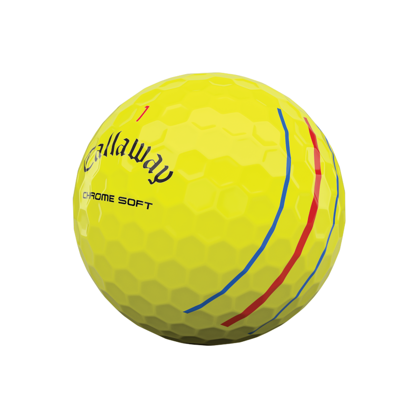 Chrome Soft Yellow Triple Track 2020 Golfbälle - View 4
