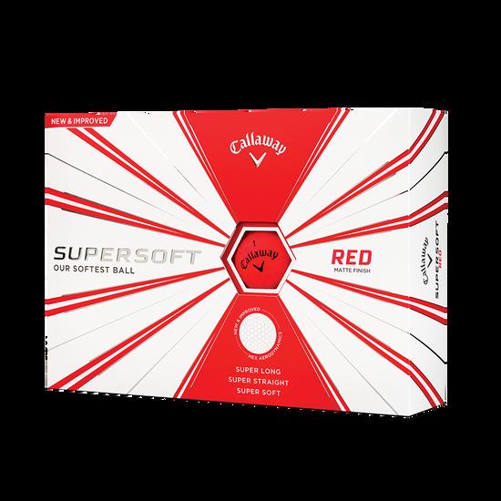 Callaway Supersoft Matte Red Golf Balls - Personalisiert