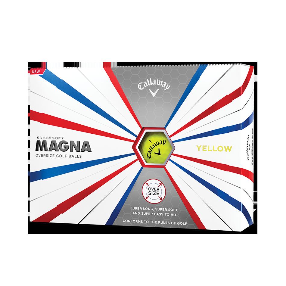 Callaway Supersoft Magna Yellow Golf Balls - Personalisiert