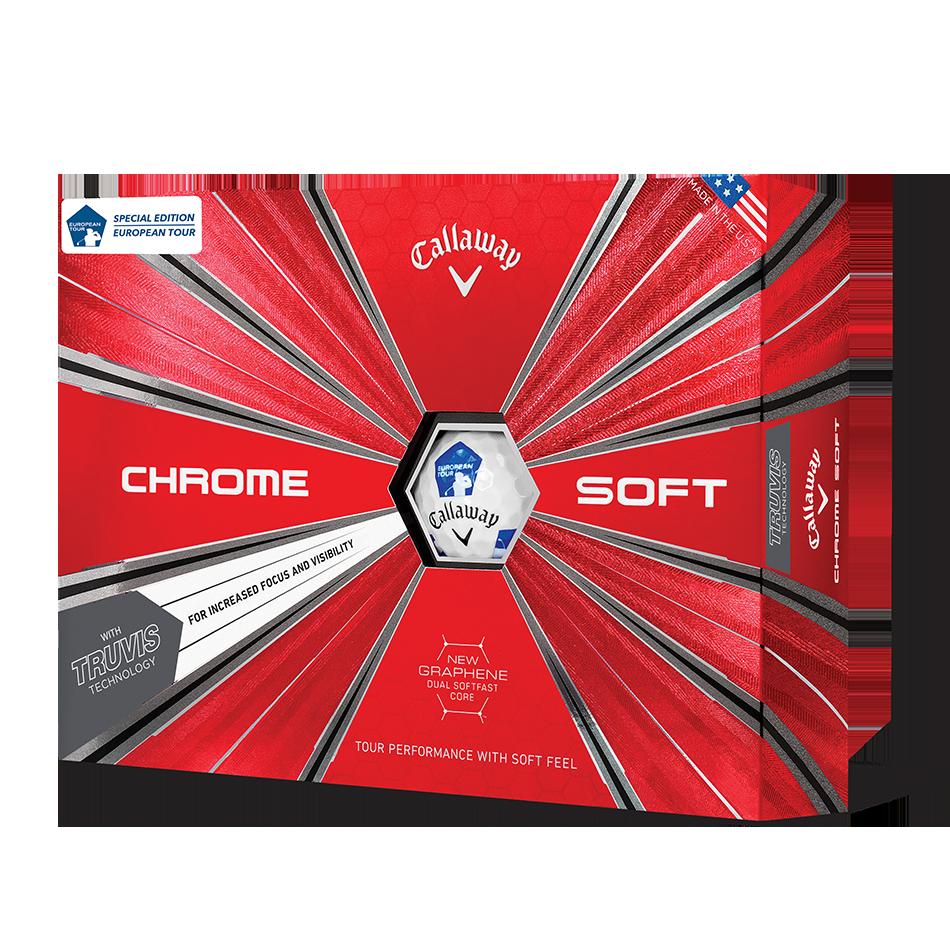 Chrome Soft Euro Tour Truvis Golf Balls - Featured