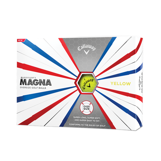 Callaway Supersoft Magna Golf Balls Yellow - Personalised