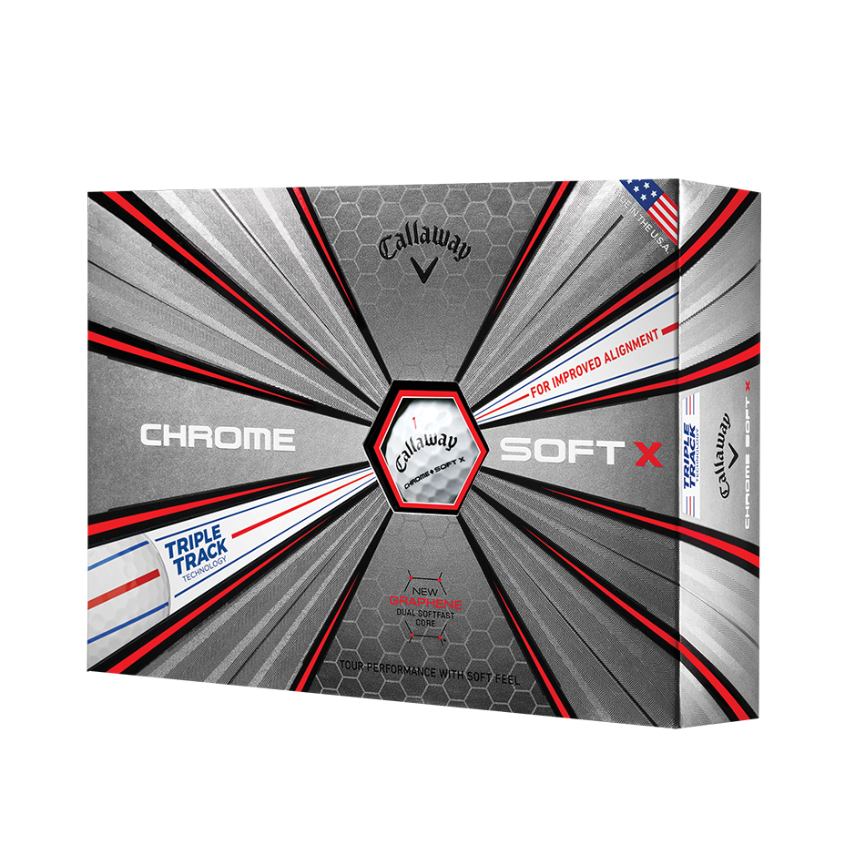 Chrome Soft X Triple Track Golf Balls - Featured