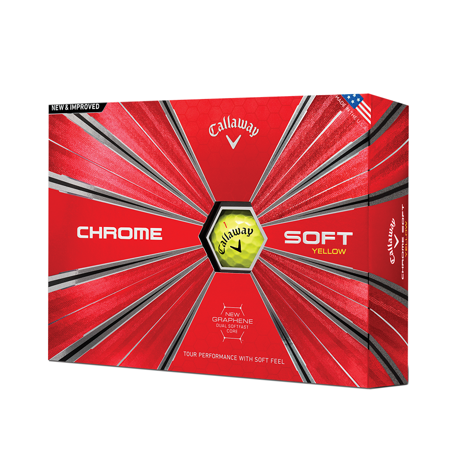 Chrome Soft 18 Yellow Golf Balls - Personalised - Featured