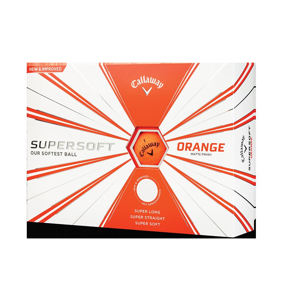 Callaway Supersoft Matte Orange Golf Balls - Personalised - Featured