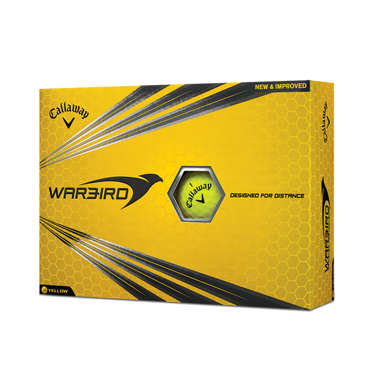 Warbird Yellow Golf Balls - Personalised