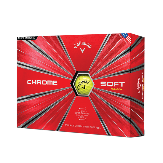 Chrome Soft Yellow Golf Balls - Personalised