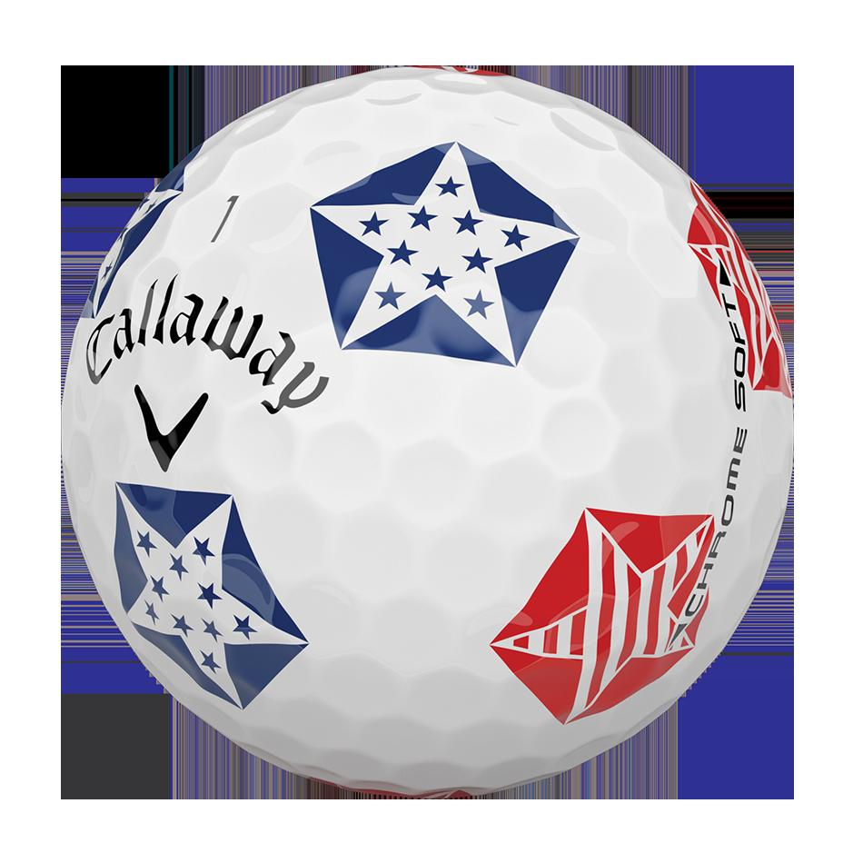 Chrome Soft Truvis Stars and Stripes 18 Golf Balls - View 4