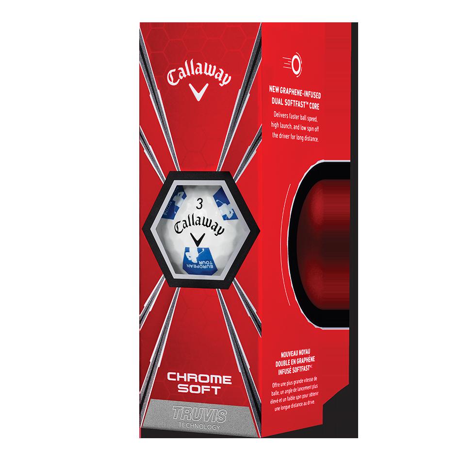 Chrome Soft Euro Tour Truvis Golf Balls - View 2
