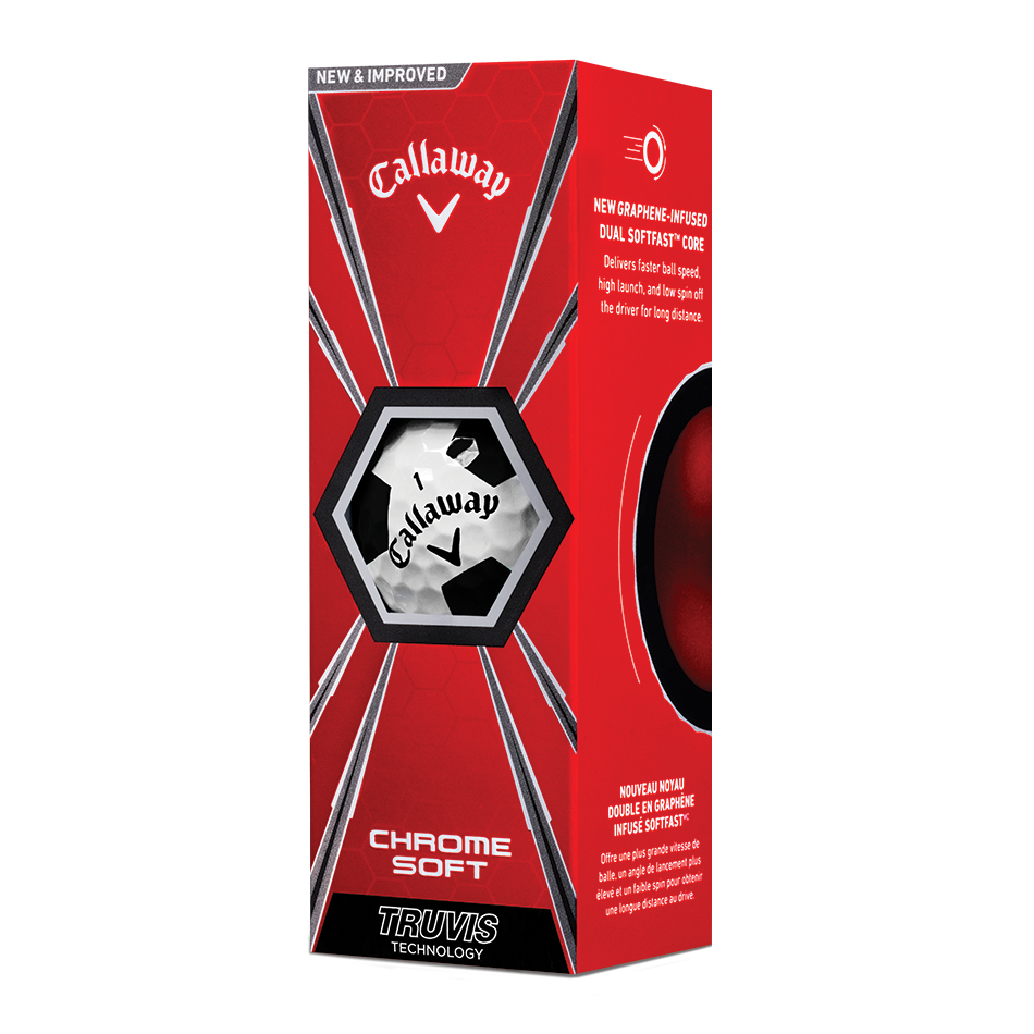 2018 Chrome Soft Truvis Black Golf Balls - View 2