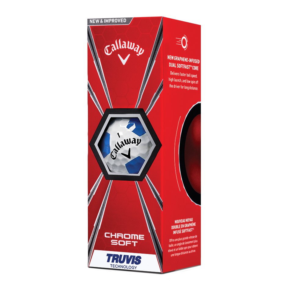 2018 Chrome Soft Truvis Blue Golf Balls - View 2