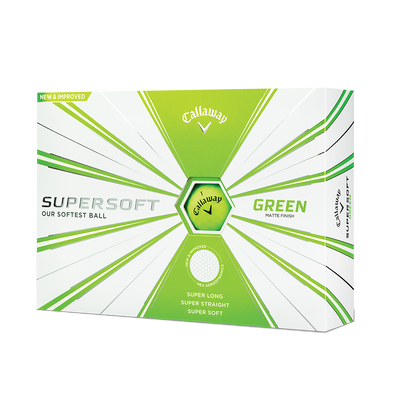 Callaway Supersoft Matte Green Golf Balls - Personalised Thumbnail
