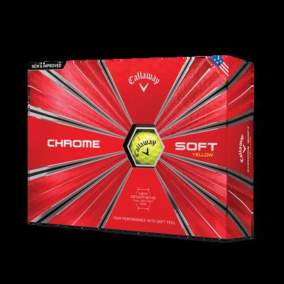 Chrome Soft Yellow Golf Balls - Personalised Thumbnail