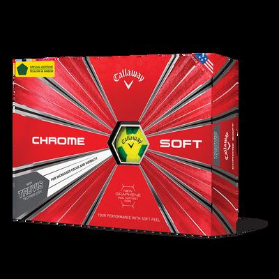 Chrome Soft Truvis Yellow & Green Golf Balls Thumbnail
