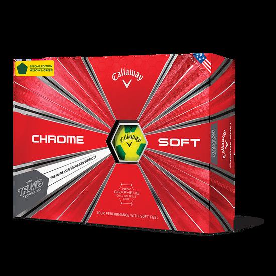 Chrome Soft Truvis Yellow & Green Golf Balls