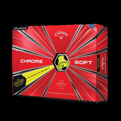 Chrome Soft Truvis Yellow Golf Balls Thumbnail