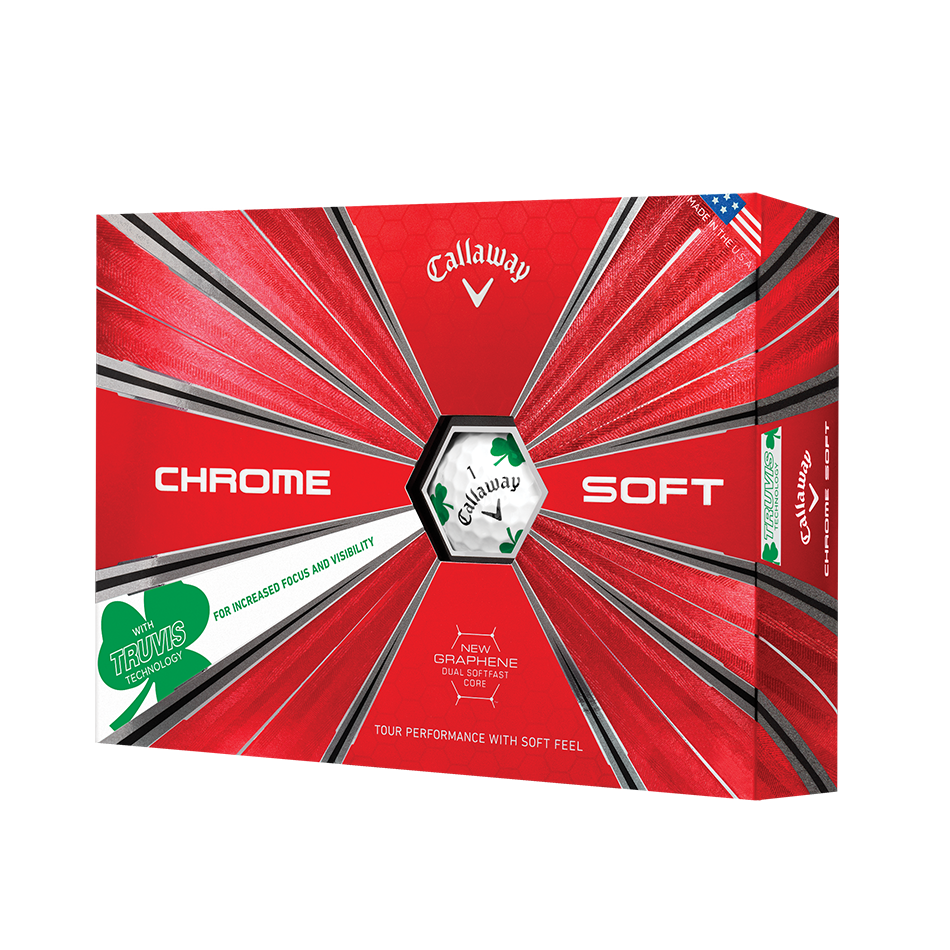 Chrome Soft Shamrock Truvis Golf Balls - View 1