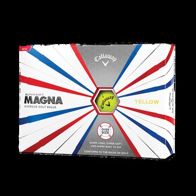 Callaway Supersoft Magna Golf Balls Yellow - Personalised Thumbnail