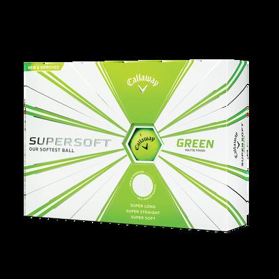 Callaway Supersoft Matte Green Golf Balls - Personalised Thumbnail