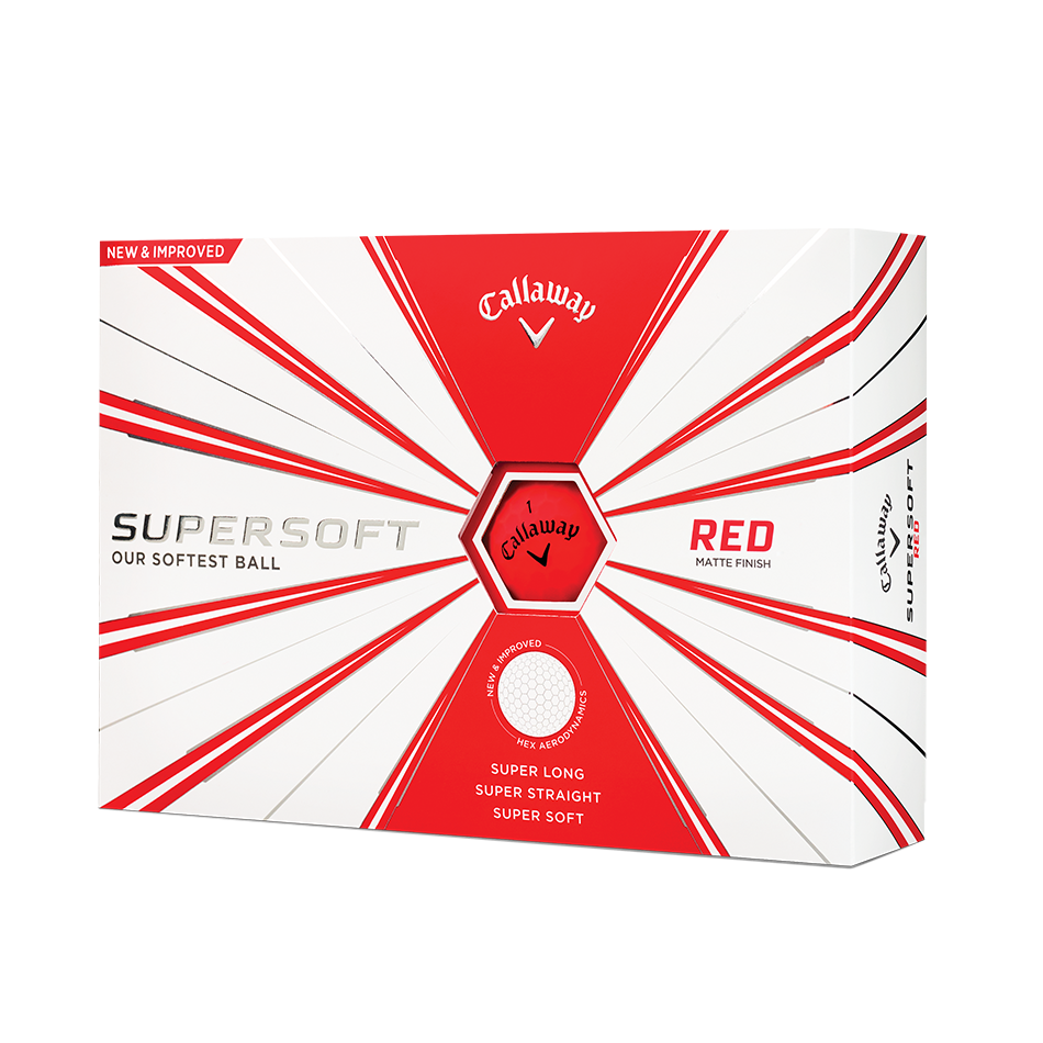 Callaway Supersoft Matte Red Golf Balls - Personalised - View 1