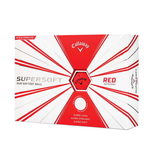 Callaway Supersoft Matte Red Golf Balls - Personalised
