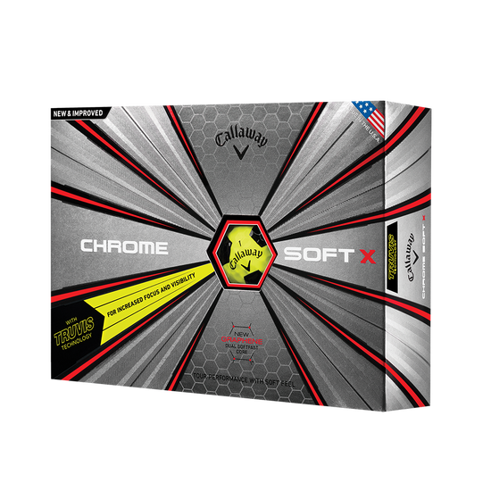 Chrome Soft X Truvis Yellow Golf Balls