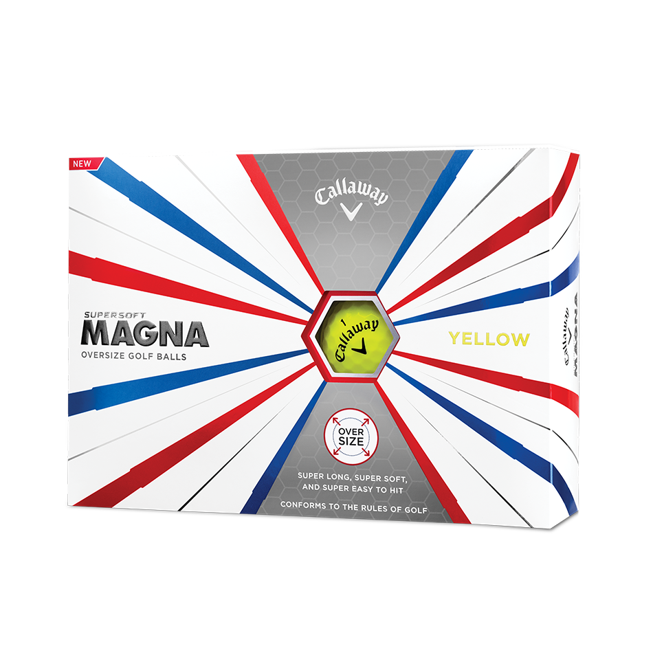 Callaway Supersoft Magna Golf Balls Yellow - Personalised - View 1