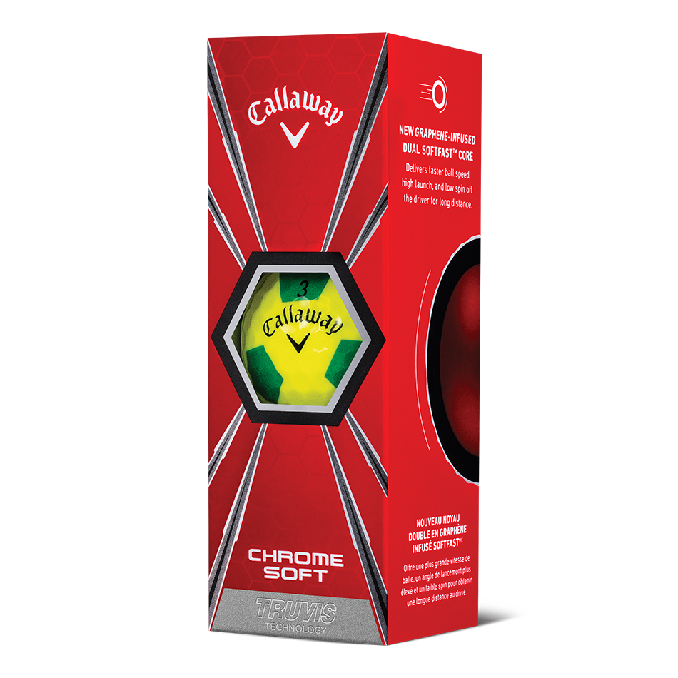 Chrome Soft Truvis Yellow & Green Golf Balls - View 2