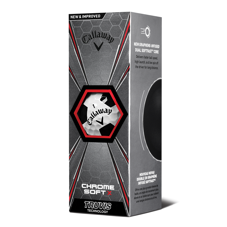 Chrome Soft X Truvis Black Golf Balls - View 2