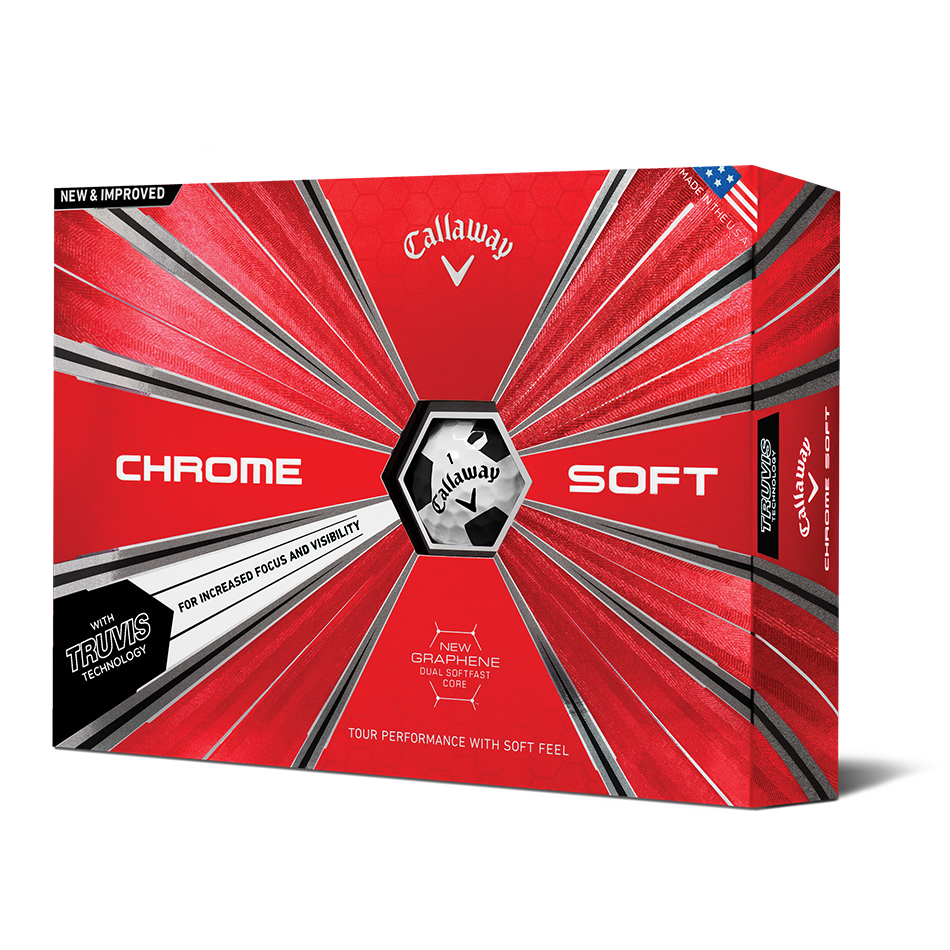 Chrome Soft Truvis Black Golf Balls - Featured