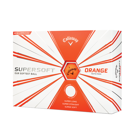 Callaway Supersoft Matte Orange Golf Balls - Personalised