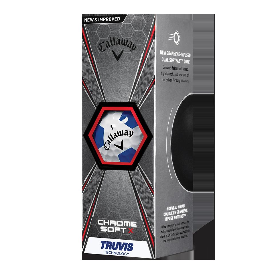 Chrome Soft X Truvis Blue Golf Balls - View 2