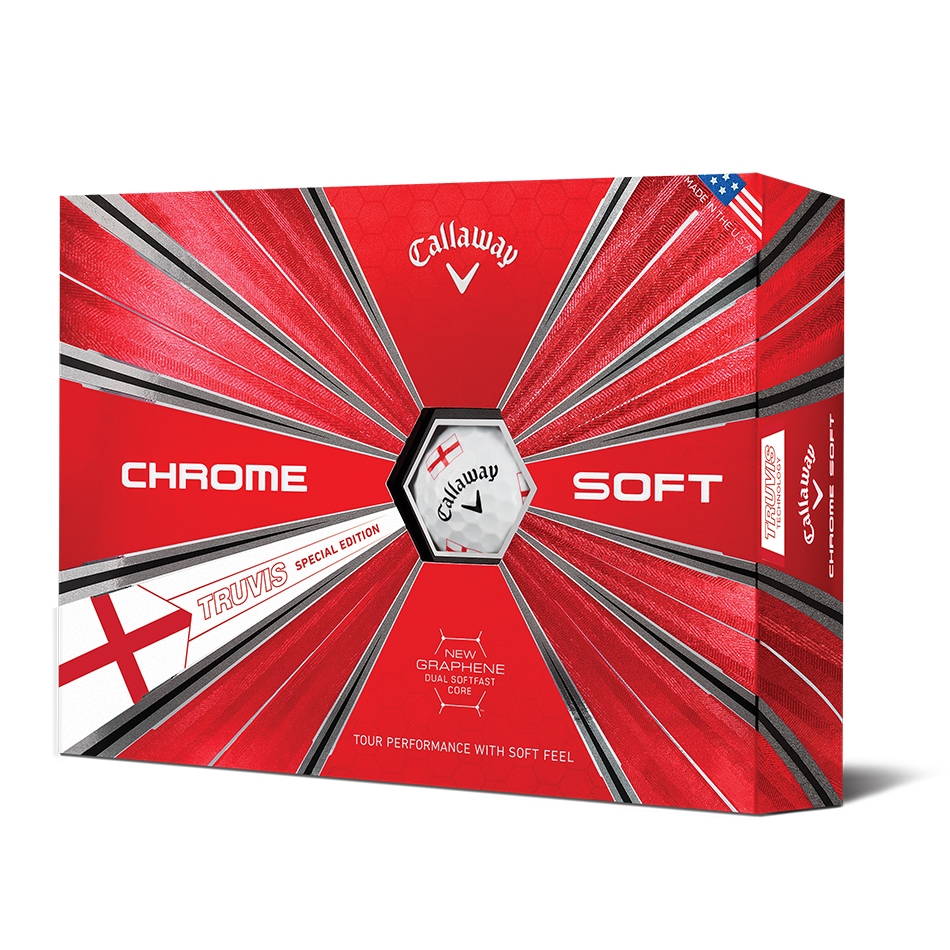 Chrome Soft England Truvis Golf Balls - View 1