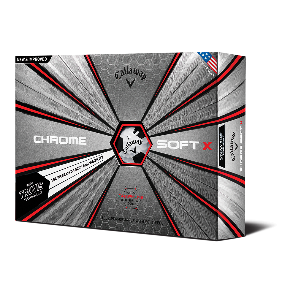 Chrome Soft X Truvis Black Golf Balls - Featured