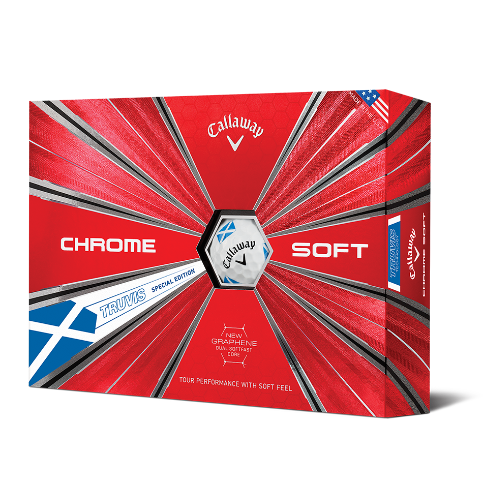 Chrome Soft Scotland Truvis Golf Balls - Featured