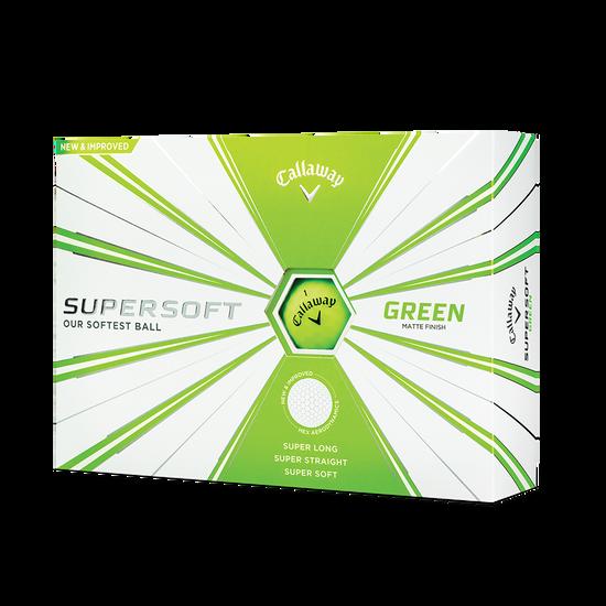 Callaway Supersoft Matte Green Golf Balls - Personalised