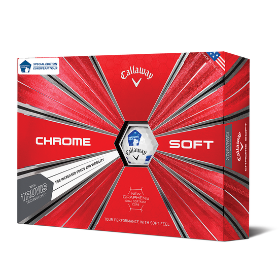 Chrome Soft Euro Tour Truvis Golf Balls