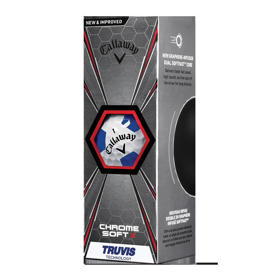 2018 Chrome Soft X Truvis Blue Golf Balls - View 2