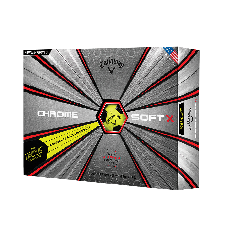 Chrome Soft X Truvis Yellow Golf Balls - Featured