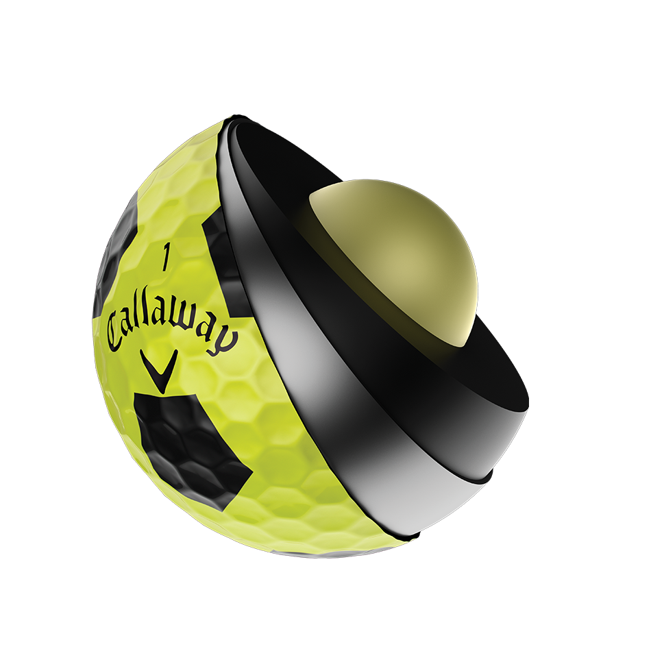 Chrome Soft X Truvis Yellow Golf Balls - View 3